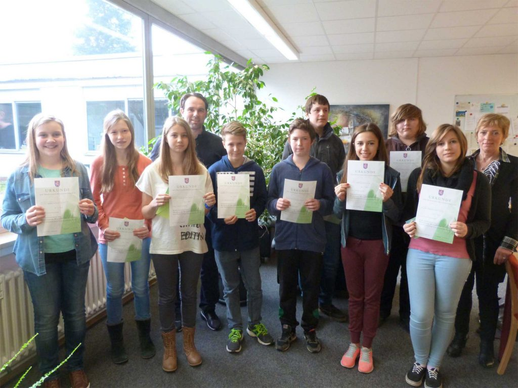 Johannes-Gutenberg-Schule ehrt Sieger im Mathematikwettbewerb