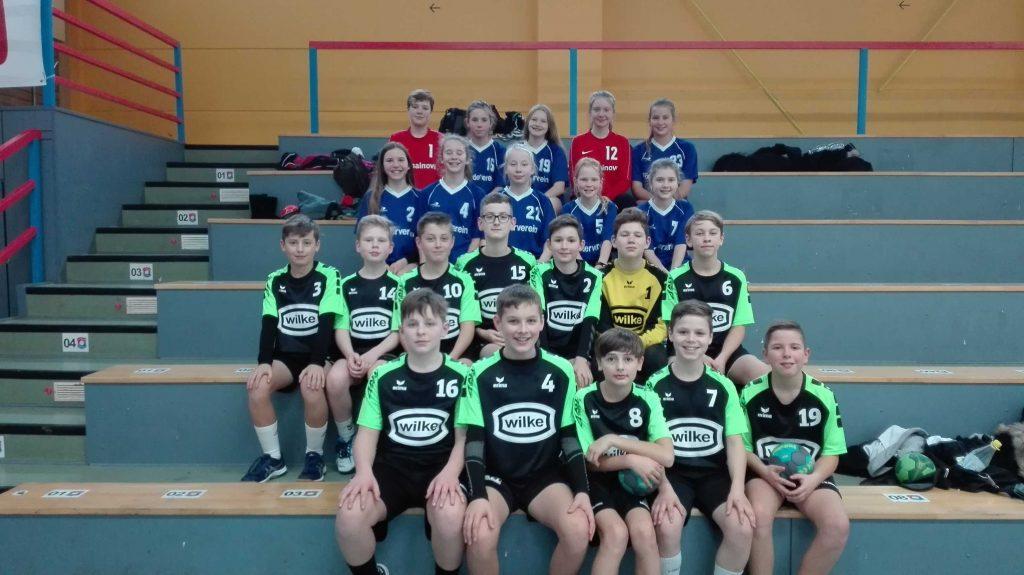 Erfolgreiche Teilnahme der Handballschulmannschaften der Mädchen und Jungen am Kreisentscheid Jugend trainiert für Olympia