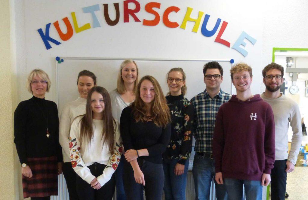 Neue Praktikanten an der Gutenberg-Schule