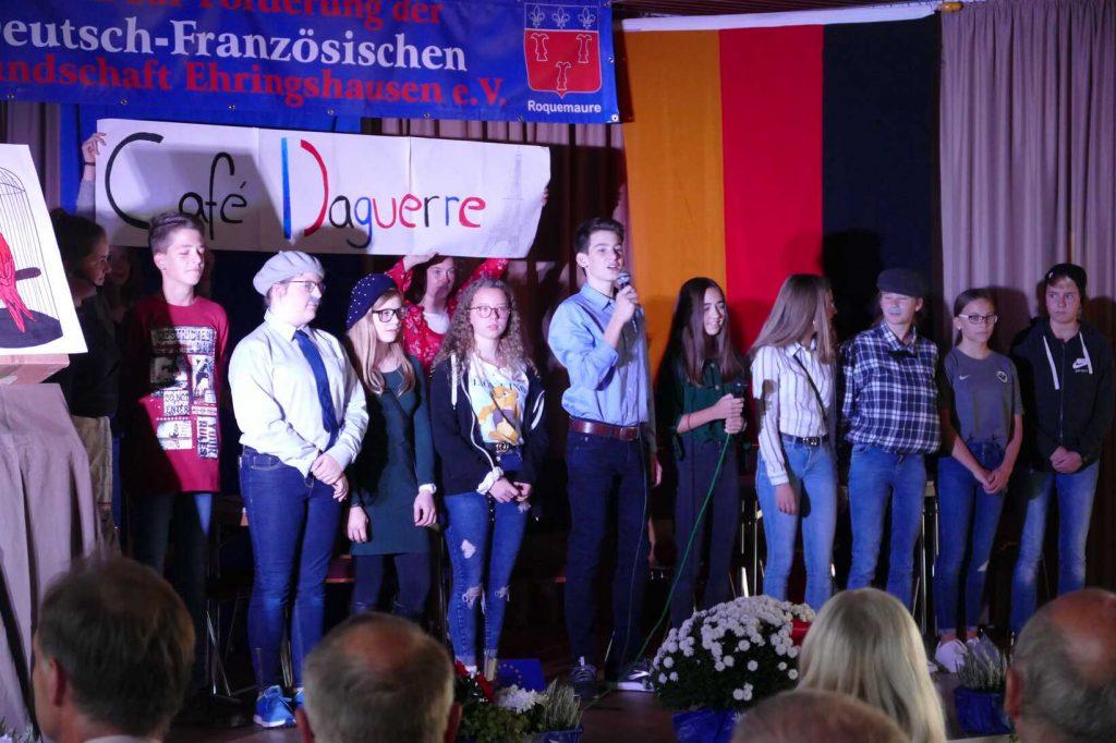 Gutenberg-Schule zu Gast beim Jubiläum der Deutsch-Französischen Freundschaft e.V. Ehringshausen