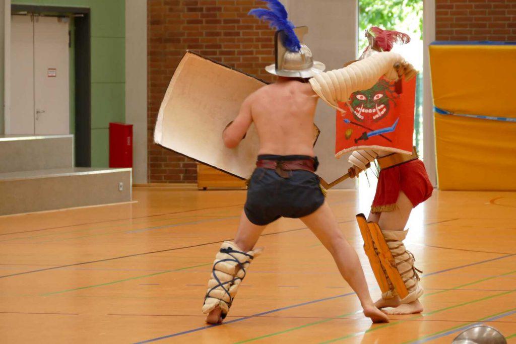 Gladiatoren hautnah an der Gutenberg-Schule