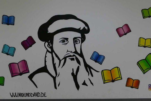 Gutenberg-Schüler üben sich in Street-Art
