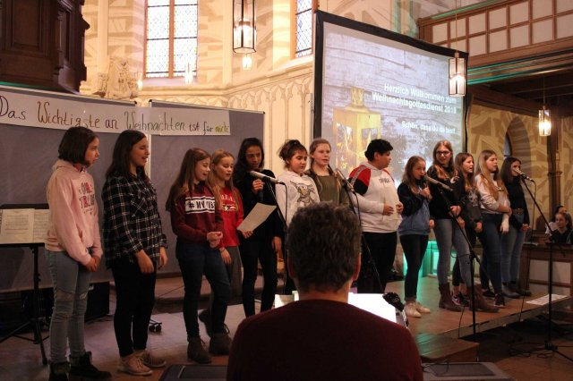 Weihnachtsgottesdienst für 350 Gutenberg-Schüler