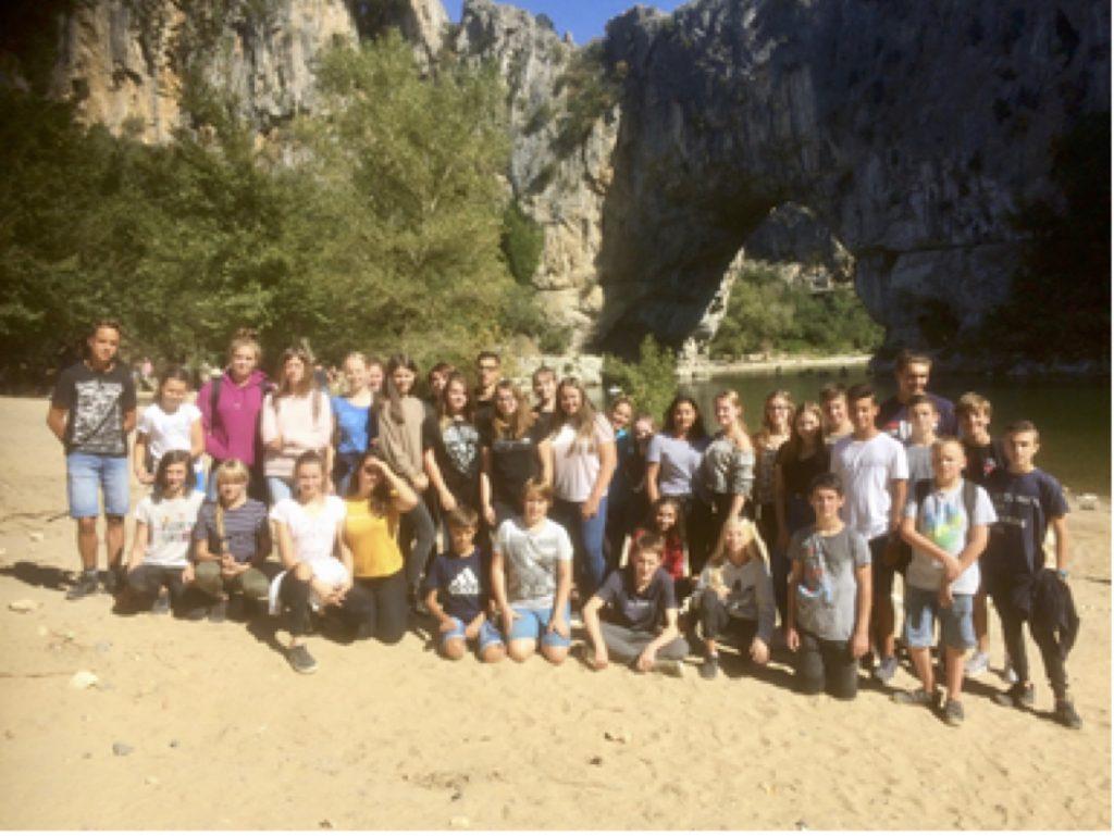 Schüler der Johannes-Gutenberg-Schule lernen Roquemaure kennen