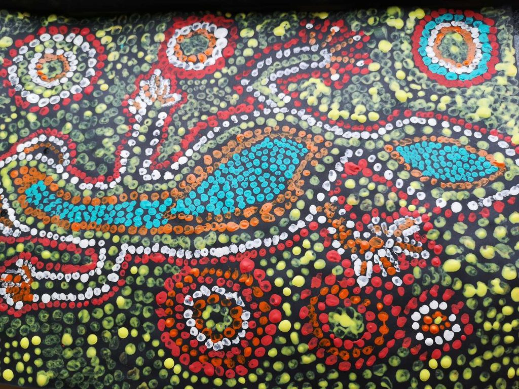Dot Painting – Australia meets England