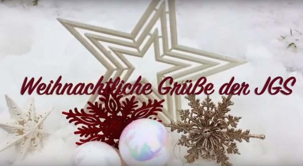 Frohe Weihnachten – Merry christmas – Joyeux Noël – Buon Natale – Feliz Navidad… Unsere JGS-Weihnachtsgrüße